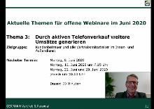"Webinar ""Durch aktiven Telefonverkauf Umsätze generieren"""