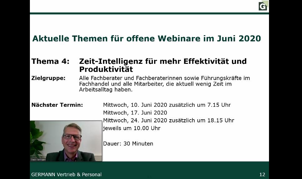 """Webinar """"Zeit-Intelligenz für mehr Effektivität und Produktivität"""""""